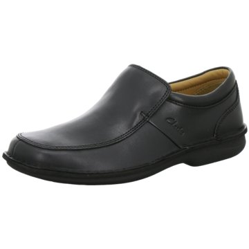 Clarks Klassischer Slipper schwarz
