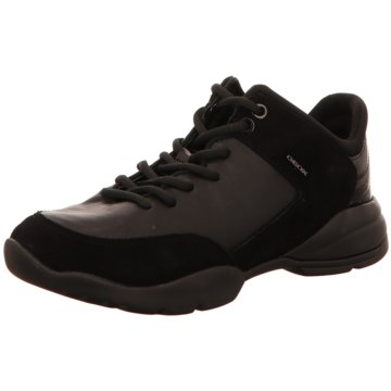 Geox Komfort Schnürschuh schwarz