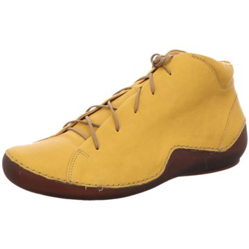 Think Komfort Schnürschuh gelb