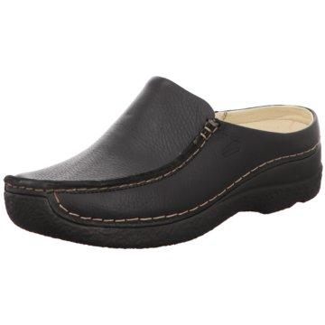 Wolky Komfort Pantolette schwarz