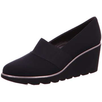 Brunate Keilpumps schwarz