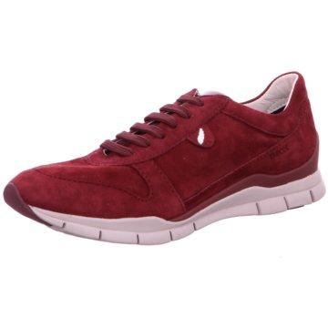 Geox Komfort Schnürschuh rot