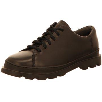 Camper Komfort Schnürschuh schwarz