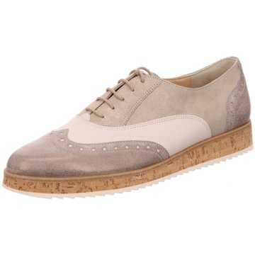 Paul Green Eleganter Schnürschuh beige