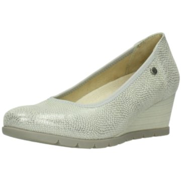 Wolky Keilpumps silber