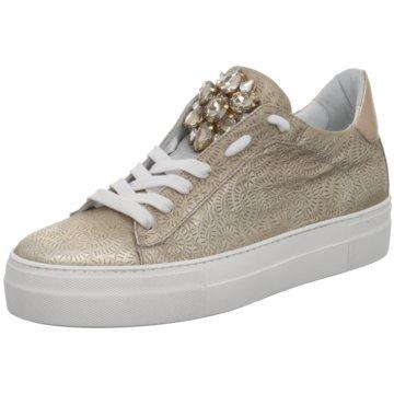 Donna Carolina Modische Sneaker gold