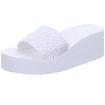 Flip-Flop Keilpantolette weiß