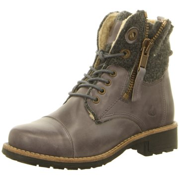 Online Shoes Schnürstiefelette grau
