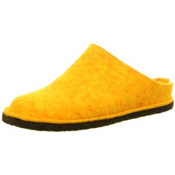 Haflinger Hausschuh gelb