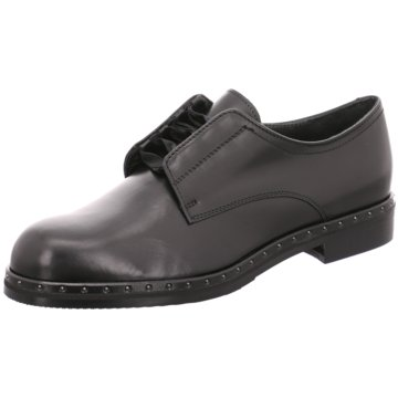 Maripé Modische Schnürschuhe schwarz