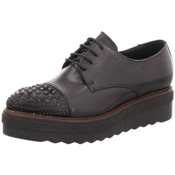 Donna Piu Modische Schnürschuhe schwarz
