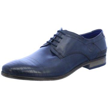 Bugatti Eleganter Schnürschuh blau