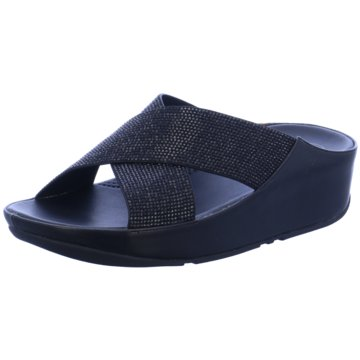 Fit Flop Plateau Pantolette schwarz