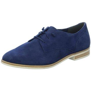 Tamaris Eleganter Schnürschuh blau