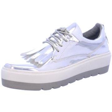 SPM Shoes & Boots Modische Schnürschuhe silber