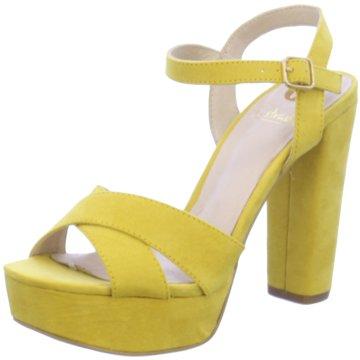 La Strada Modische High Heels gelb
