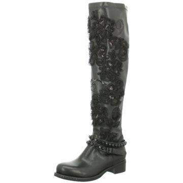 Mimmu Modische Stiefel schwarz