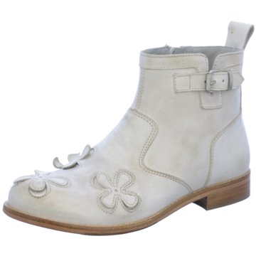 Momino Klassische Stiefelette weiß