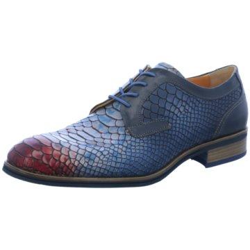 Lorenzi Eleganter Schnürschuh blau