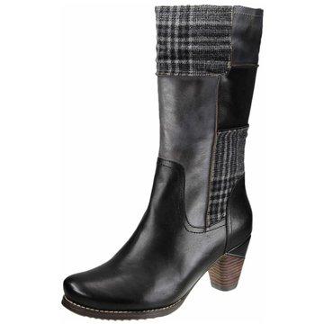 Manitu Klassischer Stiefel schwarz
