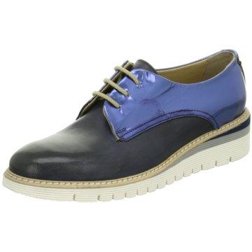 Calpierre Eleganter Schnürschuh blau