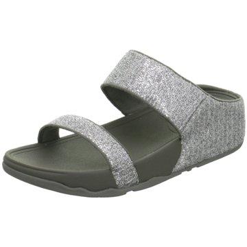 Fit Flop Komfort Pantolette silber