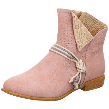 Rieker Klassische Stiefelette rosa