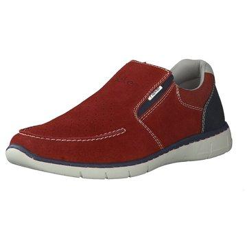 Rieker Sportlicher Slipper rot