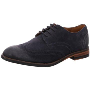 Clarks Eleganter Schnürschuh blau