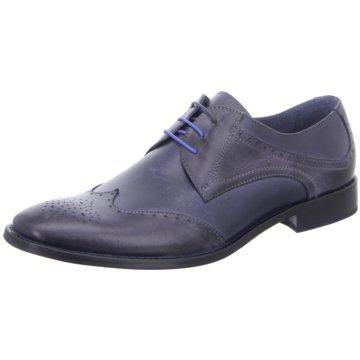 N.Benson Business Schnürschuh blau