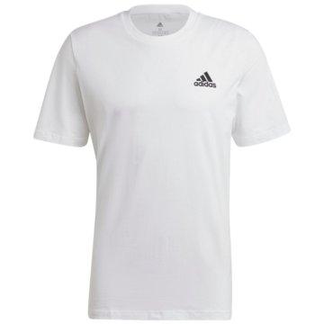adidas T-ShirtsESSENTIALS EMBROIDERED SMALL LOGO T-SHIRT - GK9640 weiß