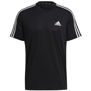 adidas T-ShirtsAEROREADY DESIGNED TO MOVE SPORT 3-STREIFEN T-SHIRT - GM2105 schwarz