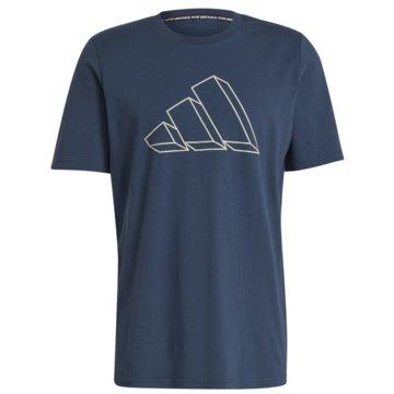 adidas T-Shirts SPORTSWEAR GRAPHIC T-SHIRT - GM6365 blau