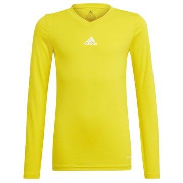 adidas FußballtrikotsTEAM BASE LONGSLEEVE - GN7514 gelb