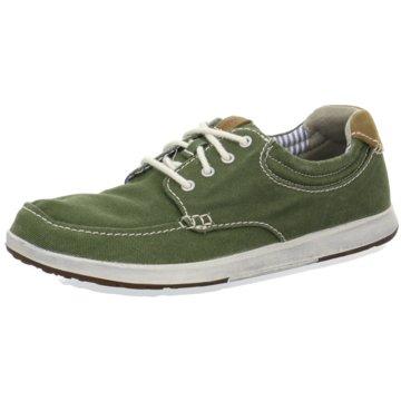 Clarks Sportlicher Schnürschuh grün