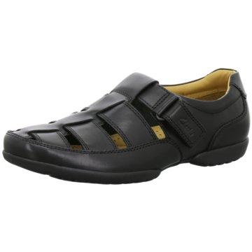 Clarks Komfort SchuhRecline Open schwarz