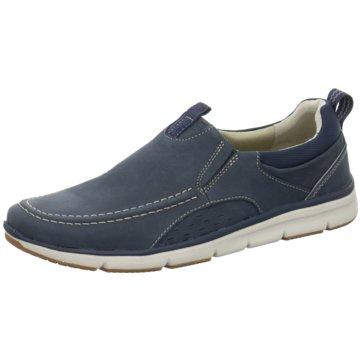 Clarks Slipper blau