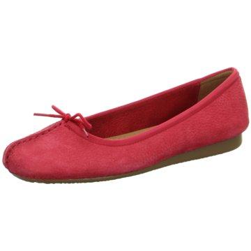 Clarks Klassischer Ballerina rot