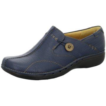 Clarks Komfort SlipperUn Loop blau