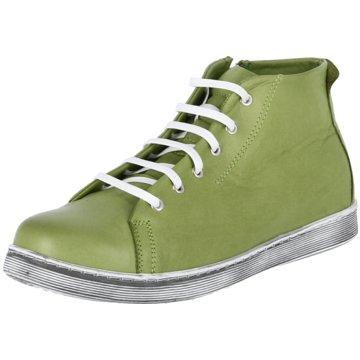 Andrea Conti Sportlicher Schnürschuh grün