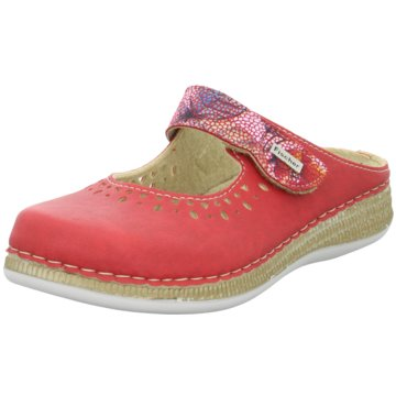 Fischer Schuhe Komfort Pantolette rot