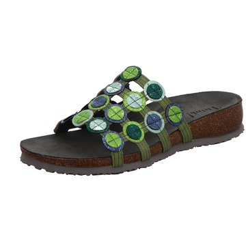 Think Komfort PantoletteJulia grün