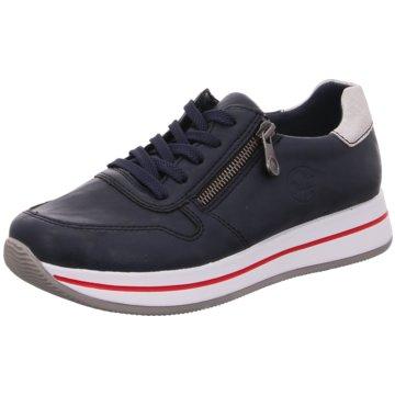 Rieker Plateau Sneaker blau