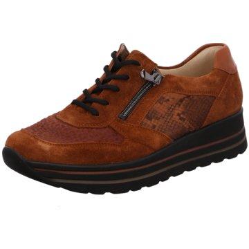 Waldläufer Komfort SchnürschuhSneaker braun