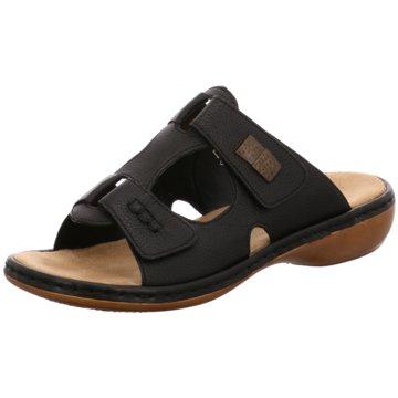 Rieker Komfort Sandale schwarz