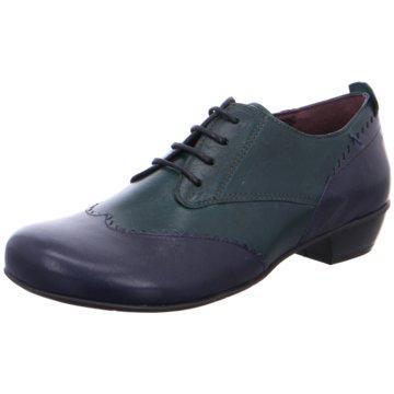 Brako Komfort Schnürschuh blau