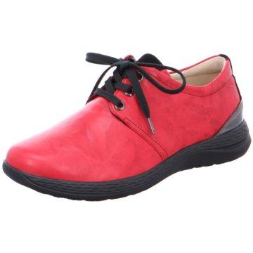 Fidelio Komfort Schnürschuh rot