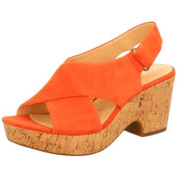 Clarks Plateau Sandalette orange