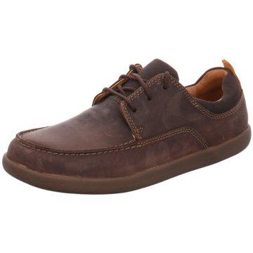 Clarks Mokassin SchnürschuhSneaker braun