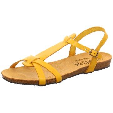 Plakton Komfort Sandale gelb